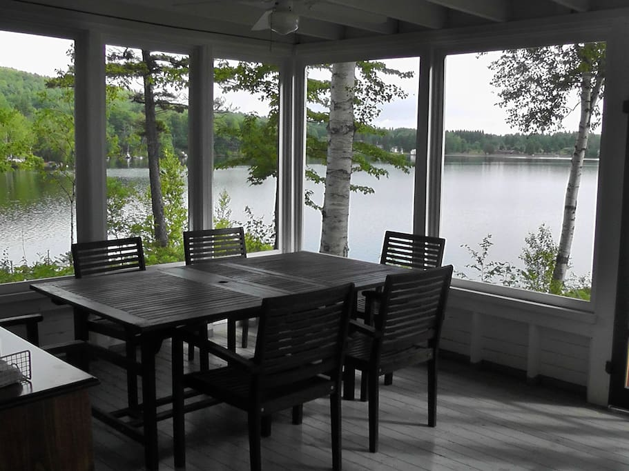 Large screen porch for dining and relaxing