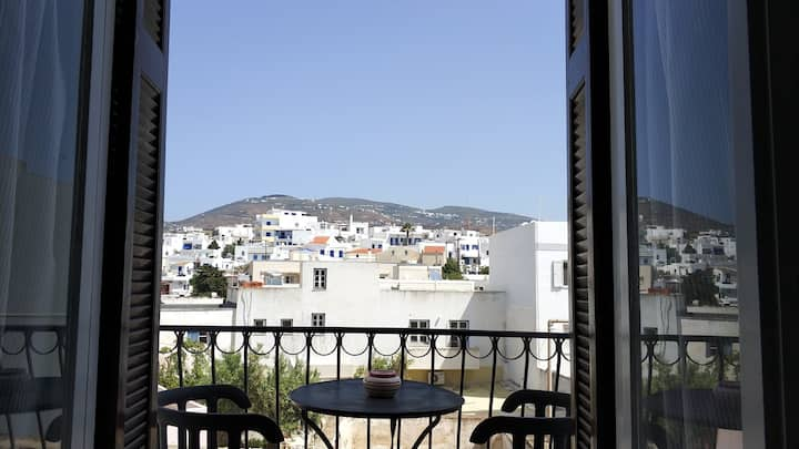Tinos port mountain view apartment