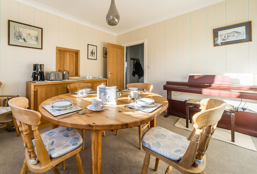 Dining room - can be used in the evening for take away meals or working.