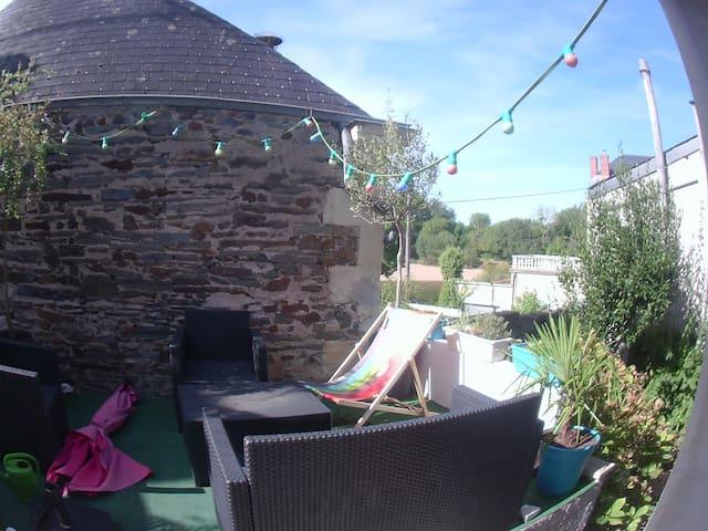 Maison, terrasse avec vue sur le Louet + wifi - Mûrs-Erigné