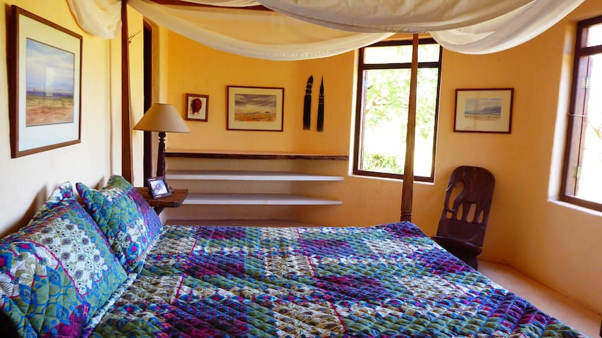 The en-suite master bedroom