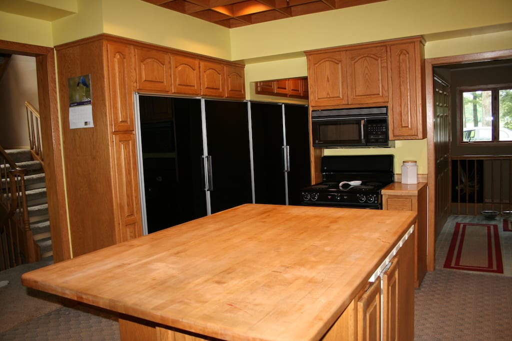 We have 2 refrigerators and 2 freezers, so you will have 1 of each for your own use.