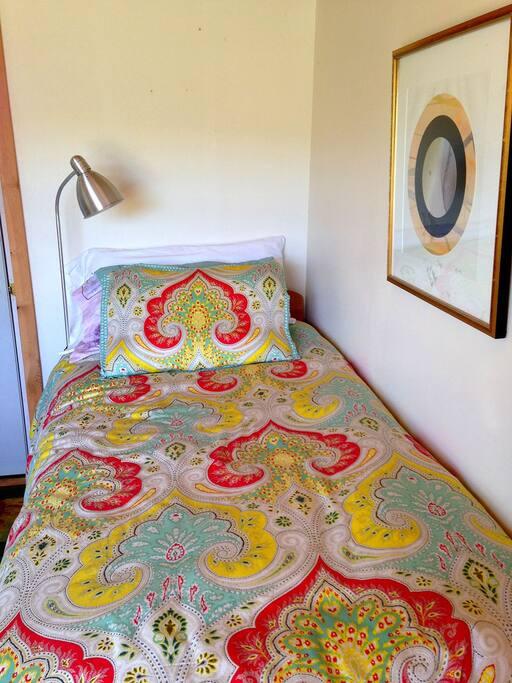 A single cozy bed