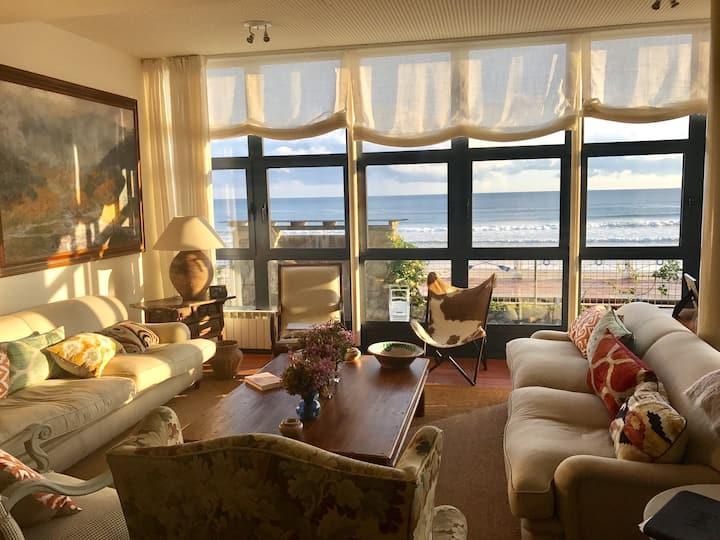 Espléndida casa a pie de playa