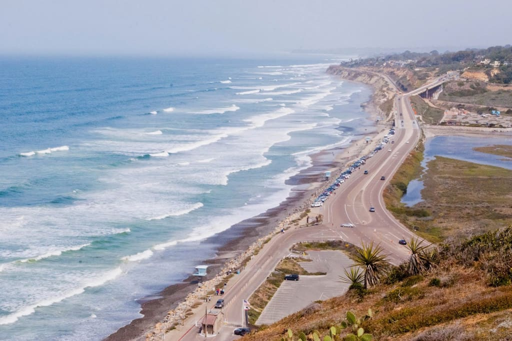 Famed torrey pines state park - just a short drive from our home. (This is not the view from our home).