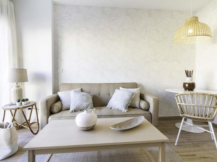 New! Natural style studio in Huelin, 1 bedroom 5 min from the beach
