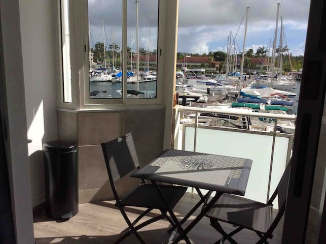 De la terrasse une vue magnifique sur la Marina