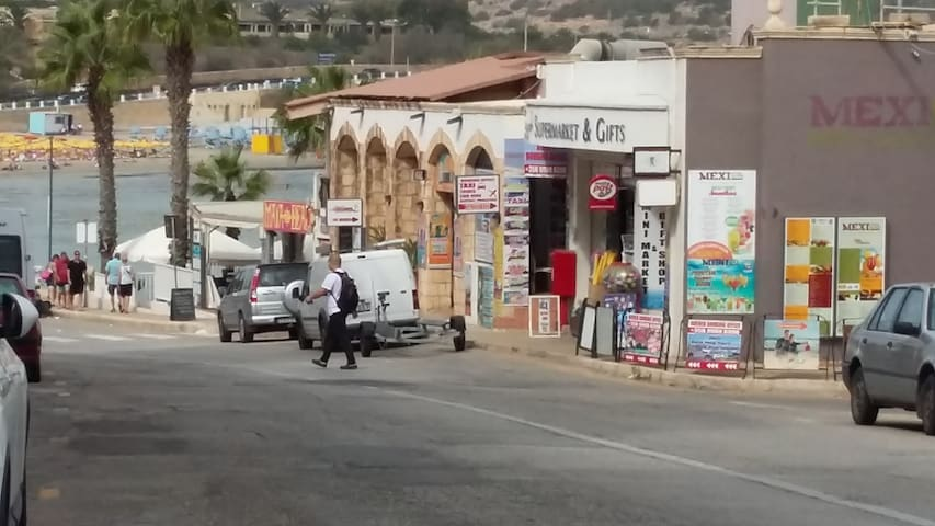 Shops and Cafe in the area.