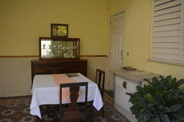 Patio interior exclusivo para la  habitacion 1