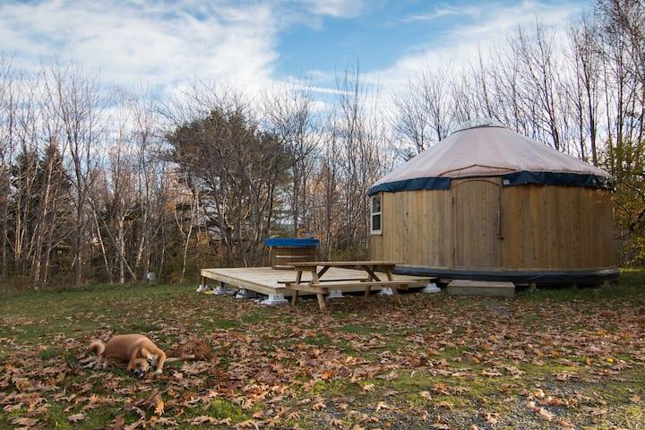 The Cedar Yurt at Cabot Shores