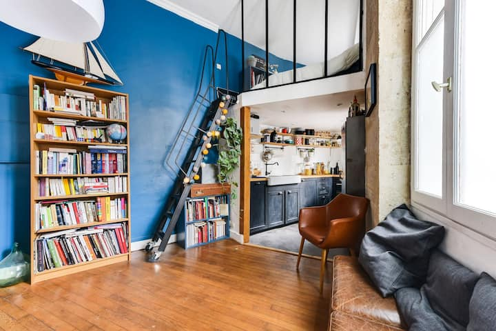 Modern house for 3 people, Paris 13
