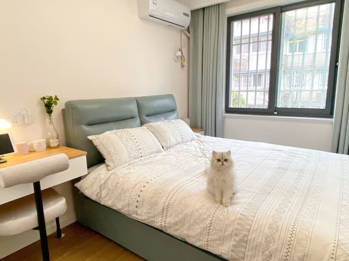 【Kitty House】温馨舒适的猫猫民宿/一号线地铁直达/近夫子庙、水游城、朝天宫(仅限女生)