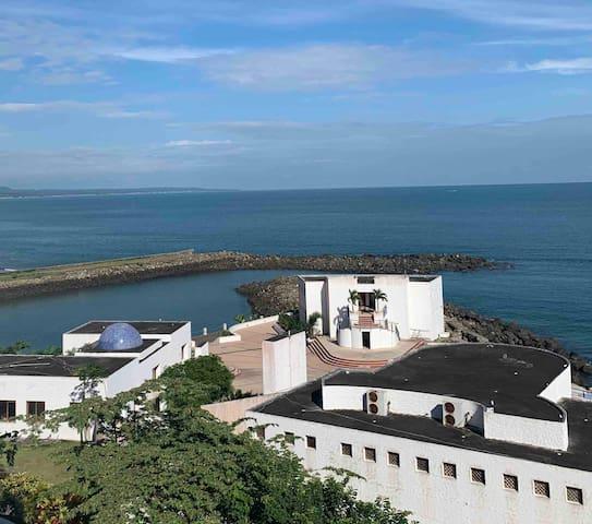 Vista del departamento con sonido relajante del mar