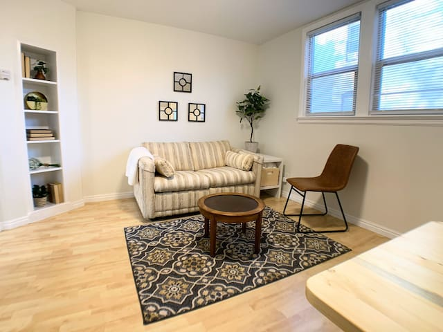 Cozy 1-Bedroom Downtown Apt, Walkable! (Apt 3)