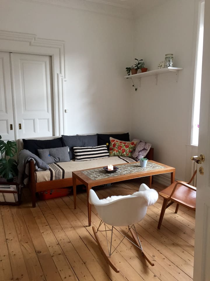 Our livingroom - with a couch and dining table