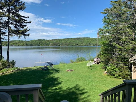 Enjoy the loons at our lakefront cabin!