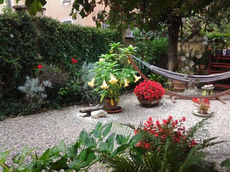 In giardino: l'amaca