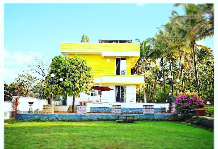 Riverside villa in karjat