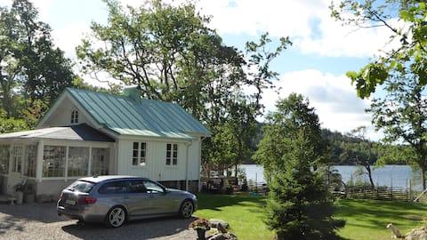 Een huisje met uitzicht in Ljungskile