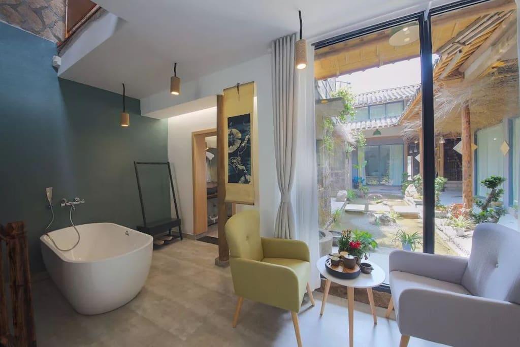 开放式浴室