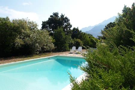 Grande propriété au calme avec piscine et vue - Moncale