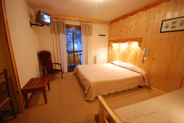 chambre privée,groupe ski rando ete sdb wc privee - Puy-Saint-Vincent - Bed & Breakfast