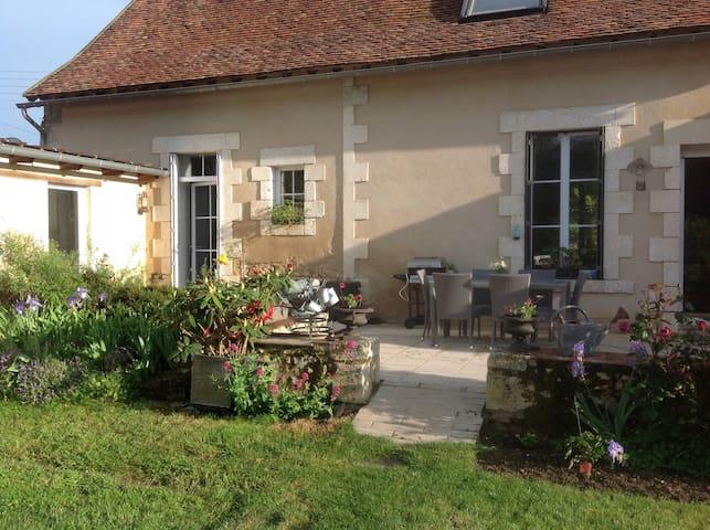 Longère berrichonne bord de Creuse