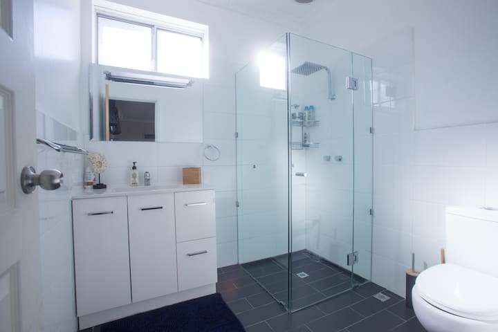 Ensuite with shower and toilet