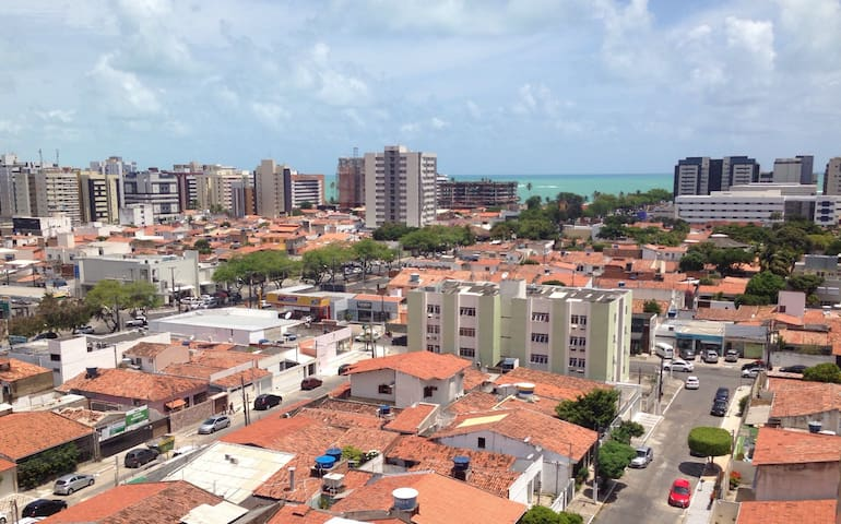 Quarto climatizado com vista do mar - Maceió - Apartament