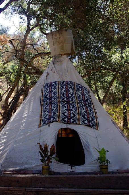 Tepee door