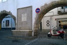 The ancient aqueduct, entrance in our square.