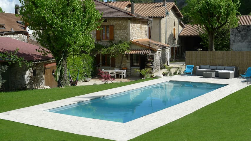 Pool overlooking the Vercors - Beauregard-Baret - House