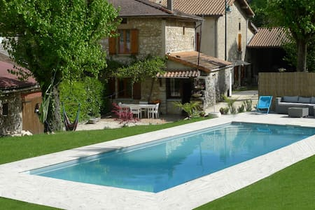 Pool overlooking the Vercors - Beauregard-Baret - บ้าน
