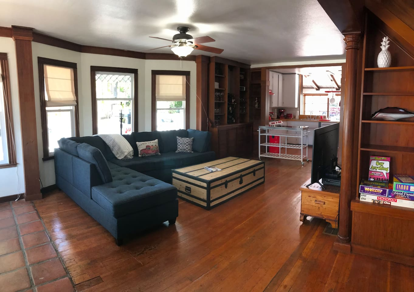 Living Rm is open to kitchen