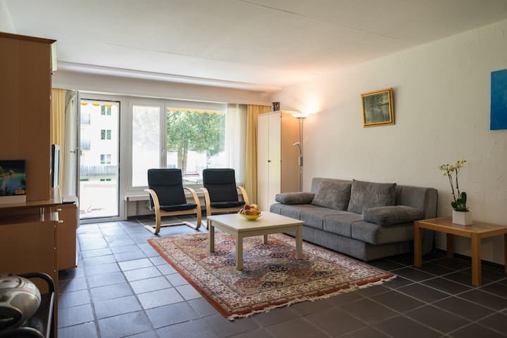 Big 1BR apartment right next to the valley station in Laax (Signina 3-5)
