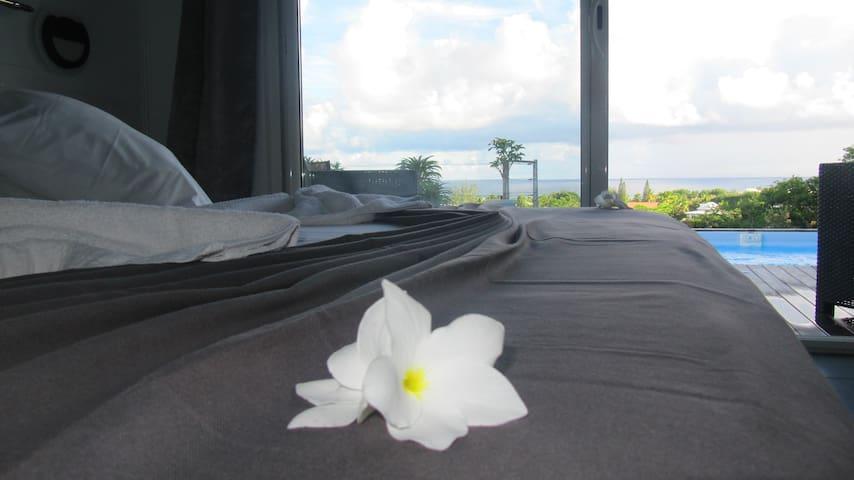 Villa Balisier 2p.-Vue Mer&Piscine - charme&calme - GP - Villa