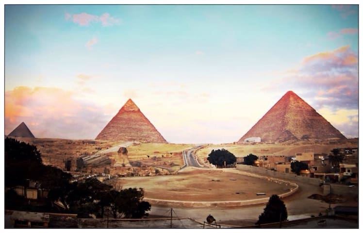 The view of the pyramids Hostel 25$