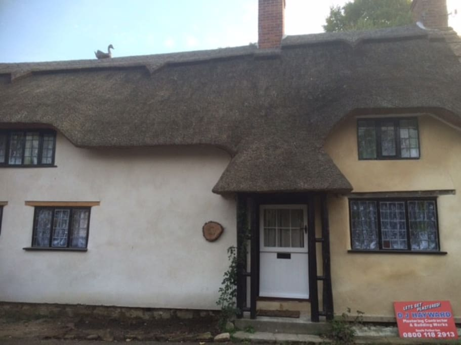 Thatchdown Cottage, a 500 year old Grade II listed building, one of the oldest in Barrington.