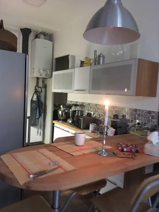 Cuisine ouverte sur le salon