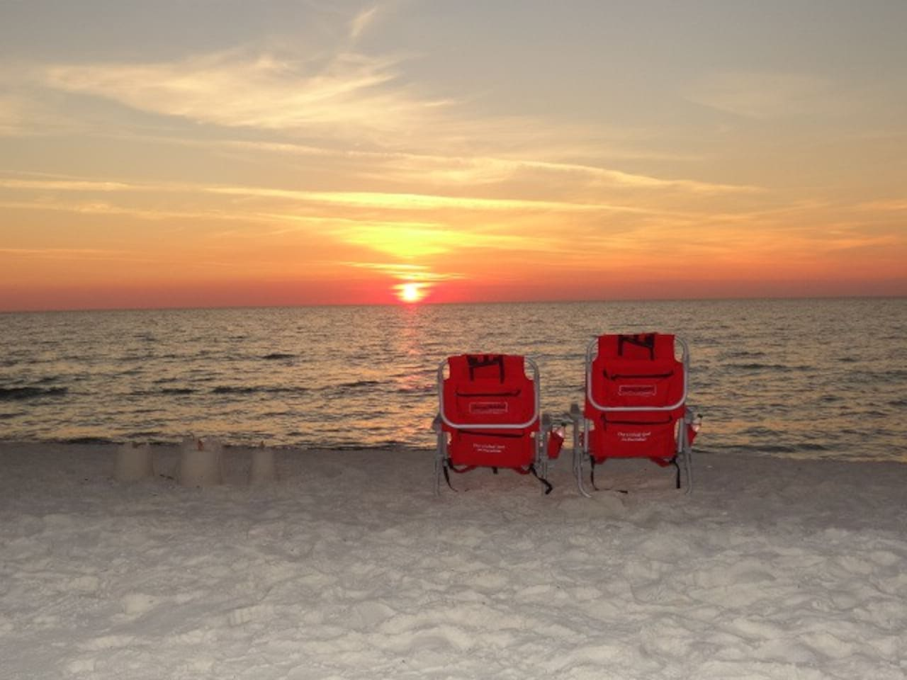 Our beaches face west for amazing sunsets you can even share with your pup!