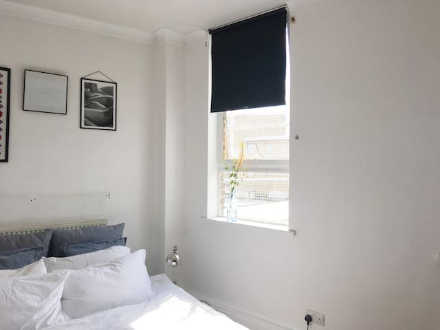 Light and Green Double Bedroom in Peckham, Rye Ln
