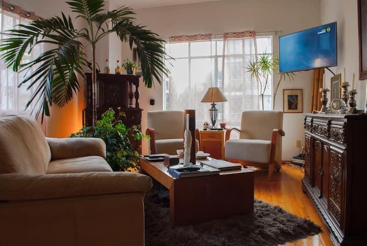 Habitación en edificio Art Deco