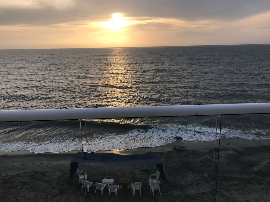 Every morning the tent and chairs will be set up for our guests to enjoy the private beach.