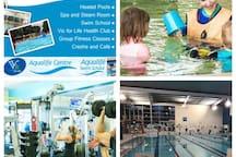 Aqualife centre including gym, pool, spa & sauna (10 min walk)