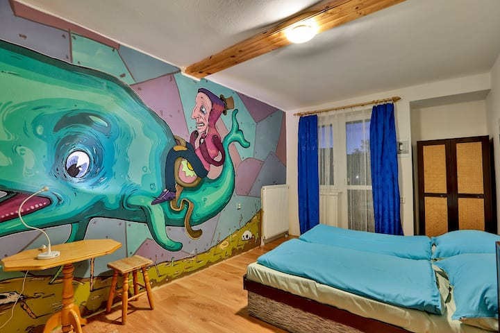 Cozy Family Double Room in Creative Pension