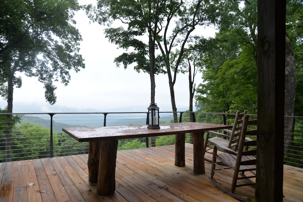 The back porch on the bluff.