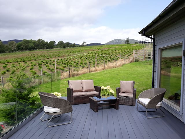 Sit out and enjoy the fresh air and countryside views
