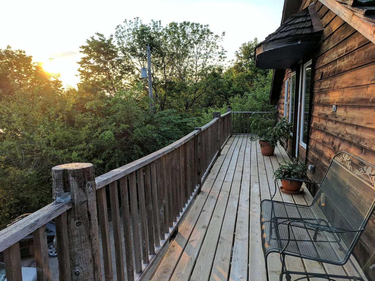 Our beautiful deck.