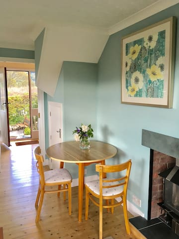 Living, kitchen& dining area