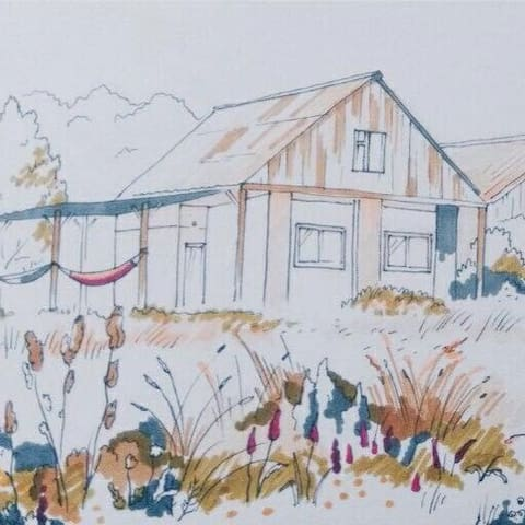 Дом на берегу озеро «Кум-Куль»